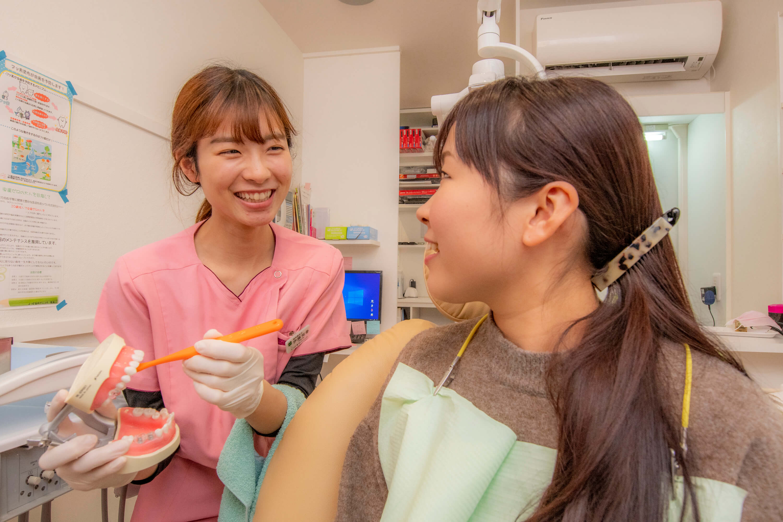 歯磨き指導などホームケアのアドバイス